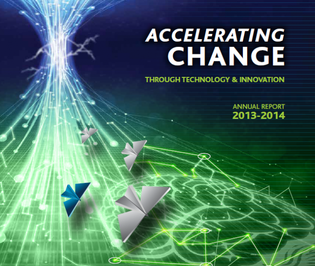 2013 - 2014 Accelerating Change Annual Report Cover
